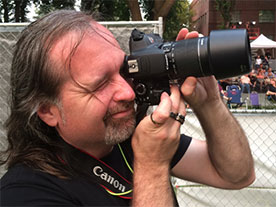 Steve Lovitt Photographer at a music festival